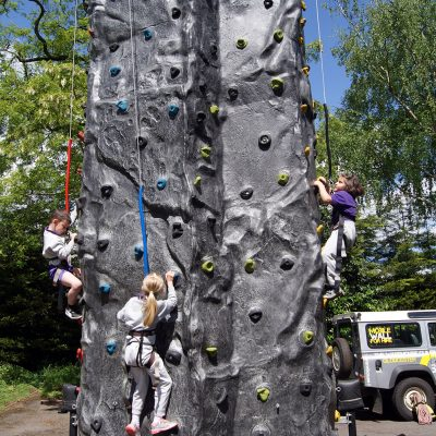 Mobile 4 Person Climbing Wall - School